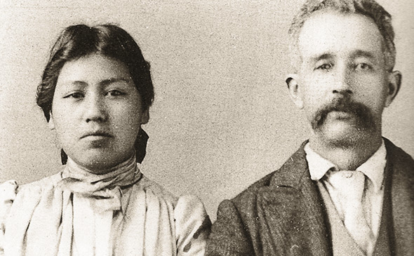 historical image of Joe and Lucy